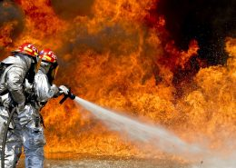 Firefighters uae fight building without Fire retardant paint