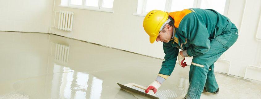 applying anti slip coating on a floor