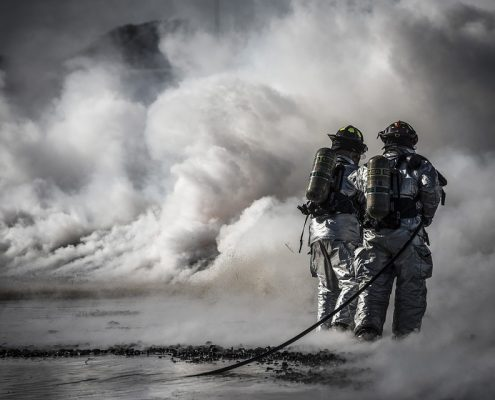 firefighters give extra time by fire resistant coating