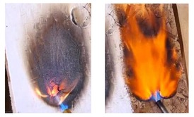 Intumescent fire resistant coating expanding as an effect of fire exposure