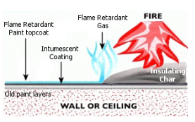 Fire retardant paint systems include the duplex system