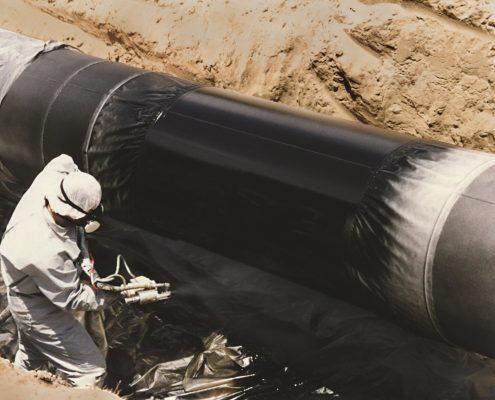 Applying pipe coatings in the uae