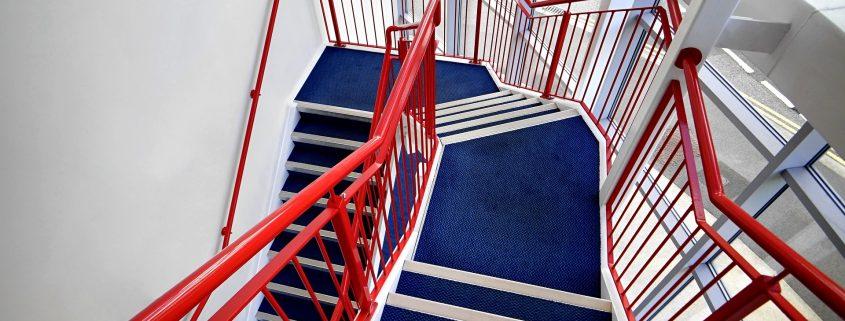 Polyurethane coatings applied on stair railings