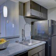 kitchen with powder coating appliances