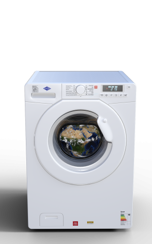 washing machine with coil coating