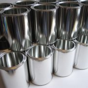 empty chemical metal cans to be protected with packaging coating