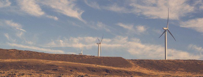 windmills with wind turbine coating