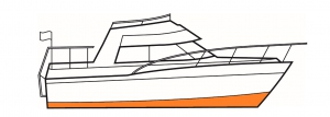 Yacht paint for protecting below the waterline includes antifoul and foul release.